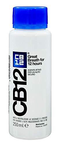 CB12 Colluttorio Quotidiano No Alcool per Alito Gradevole fino a 12 Ore con Fluoruro - 250 ml