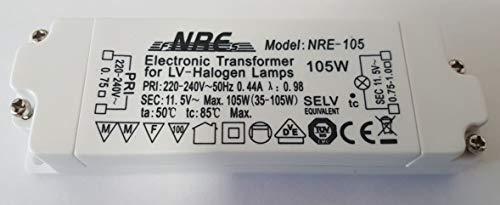 NRE 105 Elektronischer Halogen Trafo AC230V auf AC 12V 35W-105W Trafo Transformer Transformator Treiber für NV-Halogen Lampe NRE-105