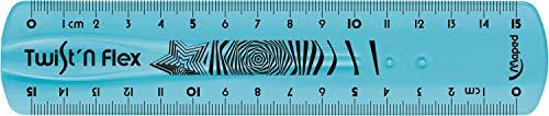 Règle MAPED Twist'n flex 15cm. couleurs assorties (bleu, vert, rose)