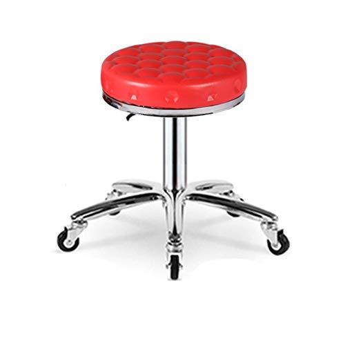 LYYF Taburete giratorio de altura ajustable, moderno, silla de escritorio de oficina, con 5 ruedas, apto para clínica, oficina, hogar, tatuaje o estudio de belleza 2122 (color: marrón)