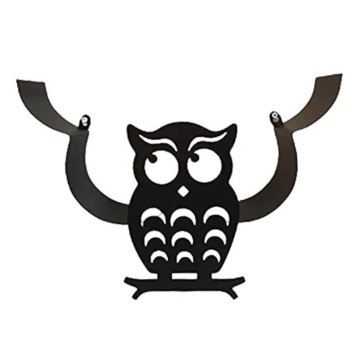 Beada Soporte de Papel HigiéNico Decorativo BúHo - Almacenamiento de PaaUelos de BaaO Independiente Estante de Almacenamiento de PaaUelos en Rollo Montado en la Pared Negro