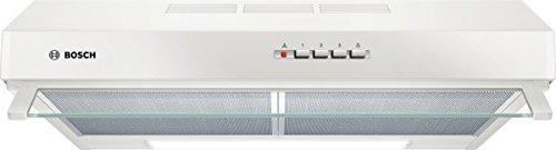 Bosch DUL63CC20 Serie 4 Unterbauhaube / D / 60 cm / Weiß / wahlweise Umluft- oder Abluftbetrieb / Drucktastenschalter / Intensivstufe / Metallfettfilter (spülmaschinengeeignet)