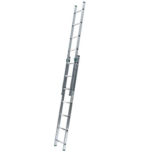 Aluminium Schiebeleiter 2-teilig 2 x 16 Stufen