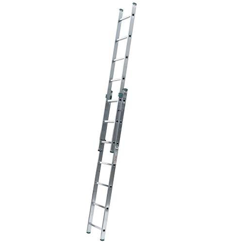 Aluminium Schiebeleiter 2-teilig 2 x 7 Stufen