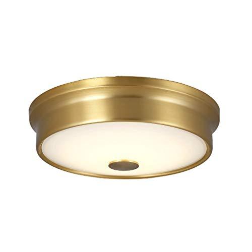 FEANG Lámpara de Techo Montaje al RAS de Techo LED con 3 Colores Ajustables, lámpara de Techo LED Redonda de Cobre para pasillos, pasillos, Corredor LED Plafones para Techo