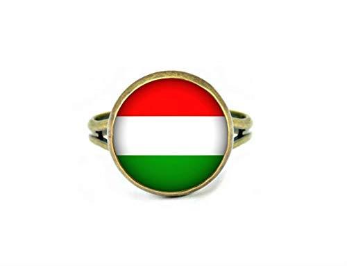 Xubu Nationale Symbool Vlag Sieraden, Hongaarse Vlag Ringen, Nationale Vlag Ringen