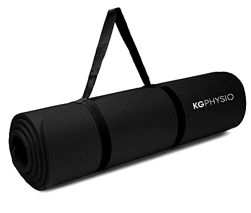 KG Physio Yoga Mat - Eco Friendly TPE Non Slip Exercise Mat with Yoga Mat Strap Included -...
