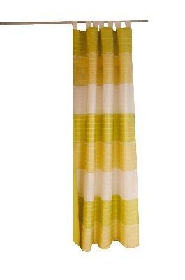 Brigitte Home colección trabillas cortina de Murcia ovillo: Verde, 140 x 245 cm aprox opaca