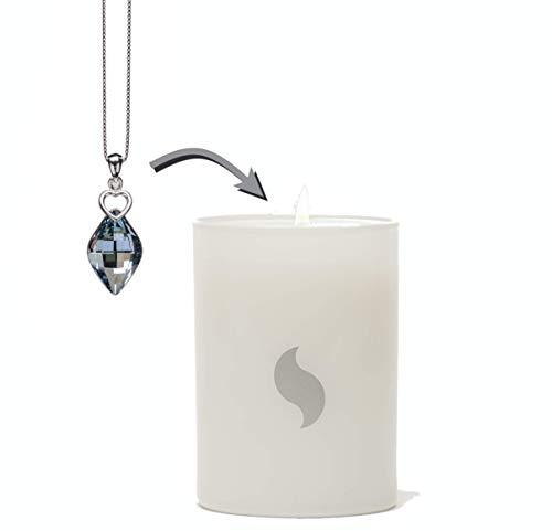 DESVELARE Vela con Joya Colgante Love Tear Swarovski® Elements en su Interior