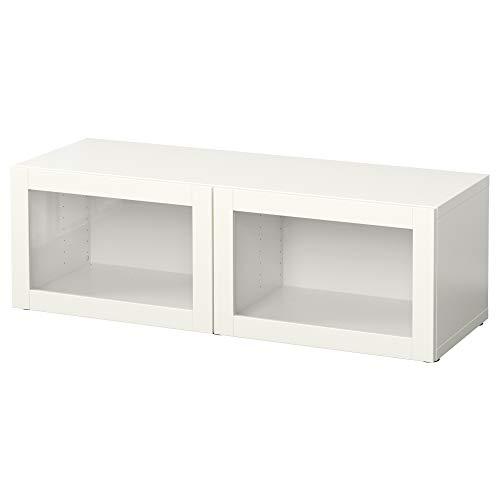 BESTÅ Estantería con puertas de cristal 120x40x38 cm Sindvik blanco