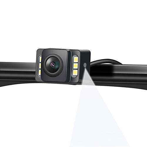 2nd Upgraded Car Rear View Backup Camera Automotive 6 LED Lights Night Reversing Camera HD License Plate Cam Kit with IP69K for Vehicle UV Pickup Truck etc.