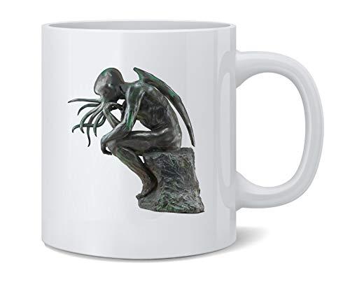 Poster Foundry Cthinker Cthulhu Thinker Funny Ceramic Coffee Mug Tea Cup Fun Novelty Gift 12 oz