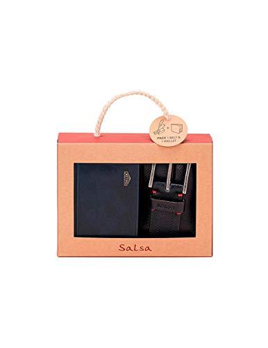 Salsa Jeans Pack Gürteltasche und Geldbörse, Blau, Blau 85 cm