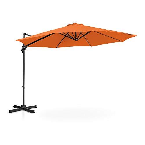 Uniprodo Ampelschirm Uni_Umbrella_2R300OR Gartenschirm (rund, Ø 300 cm, drehbar, orange)