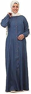 فستان كاجوال قصة واسعة ماكسي للنساء ، ازرق