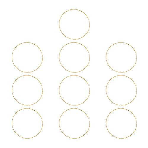 Yardwe 10 Pezzi Anello Metallo per Acchiappasogni, Cerchio Anello 10X10CM per Fare Acchiappasogni, anelli Rotondi in Metallo per Acchiappasogni Fai da te