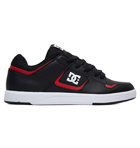 DC Men's Shoes Cure Skate, Black/red, 12 M US