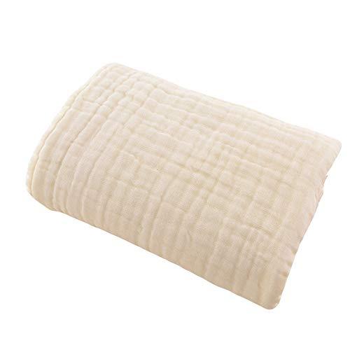 Muslin bébé serviette coton Gaze Super Soft Serviettes de bain pour bébés bio 6 couches Serviettes de nourrissons Couverture du nouveau-né Convient pour la peau délicate