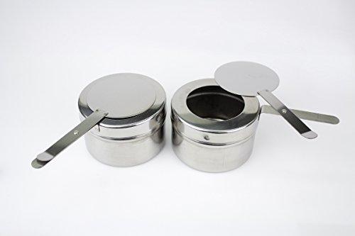 Stoff-Kollektion Lot de 2 récipients à pâte combustible de rechange pour chafing Dishes