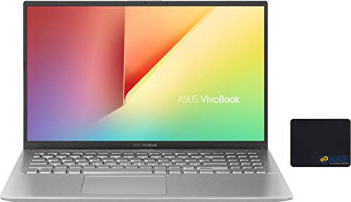"ASUS Vivobook Laptop, 15.6"" Full HD Screen, AMD Ryzen 5-3500U Processor up to 3.7GHz, 8GB RAM, 256GB PCIe SSD, Webcam, WiFi, Bluetooth, Online Class/Meeting Ready, Win 10 Home, Silver, KKE Mousepad"