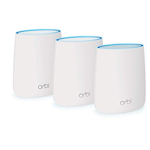 NETGEAR Orbi Ultra-Performance Whole Home Mesh WiFi System - WiFi router and two satellite extender with speeds up to 3Gbps over 7,500 sq. feet, AC3000 (RBK53)