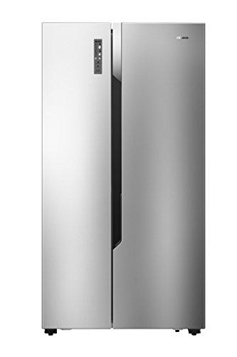 Hisense RS670N4BC3 Side-by-Side kühl Gefrierkombination/ NoFrostPlus/ Inverter-Kompressor/ FastFreeze/ Multiflow 360°/ 178,6 cm/ Kühlteil 336 l/ Gefrierteil 185 l/ 41 dB/ 247 kWh/Jahr/ Inox-Look