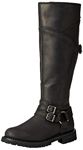 HARLEY-DAVIDSON FOOTWEAR Women's Lomita Motorcycle Boot, Black, 10 M US