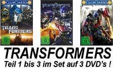 Transformers 1+2+3 im Set - Deutsche Originalware (3 DVDs)
