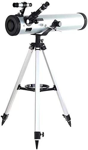 Y DWAYNE Telescopios Telescopio astronómico para Exteriores Performance 700-76 Telescopio astronómico Reflector con Montaje azimutal...