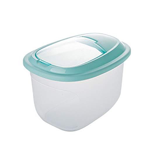 Cocina Almacenamiento de alimentos secos Contenedores de arroz grandes cajas de almacenamiento envase de alimento seco harina de arroz dispensador for mascotas Dog Food Bin Alimentos con tapa