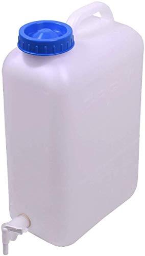 Ackrutat Wasserkanister mit Hahn Auslaufhahn 19 Liter Weithalskanister DIN 96 Campingkanister Carysan