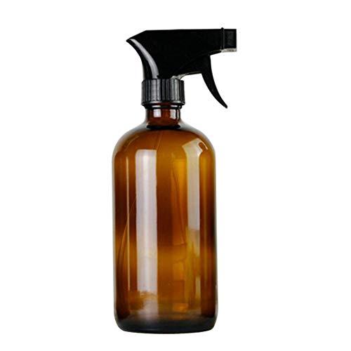 Geshiglobal Distributeur de savon en verre vide pour huile essentielle 250 ml, Verre, marron, 250 ml