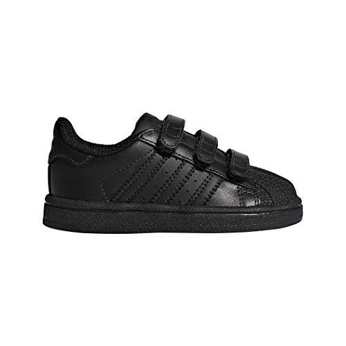 adidas Originals Kid's Unisex Superstar  Black/Black/Black 3.5
