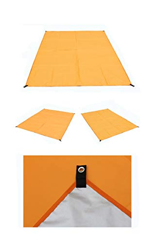 Sandfree Beach Blanket - Huge Ground Cover Best Sand Proof Picnic Mat for Travel, Camping, Hiking and Music Festivals (Orange,210200cm)