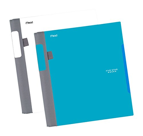 "Five Star Advance Spiral Notebooks, 1 Subject, College Ruled Paper, 100 Sheets, 11"" x 8-1/2"", Teal, White, 2 Pack (73172)"