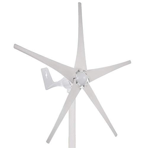 FlowerW 500 Watt 24V Wind Turbine Generator DC 24 V Wind Turbine 5 Blatt Niedrigen Wind Geschwindigkeit Garten Gartenstraßenleuchten Windturbinen Mit Laderegler (DC 24 V)
