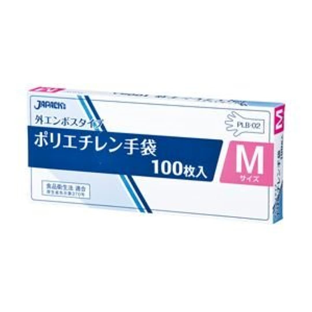 うなり声操る誤解させるジャパックス LDポリエチレン手袋 M 1箱(100枚) ×20セット