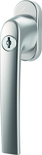 Fenstergriff Roto Samba abschließbar 40 Nm natursilber mit Schrauben Vierkantstift 7 x 37 mm