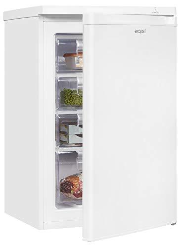 Exquisit Gefrierschrank GS12-040F-040F weiss | Standgerät | 84 l Volumen | Weiß