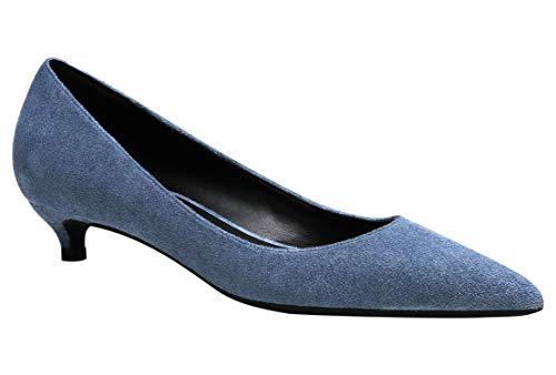 Royou Yiuoer High Heels Schuhe Damen Sexy Pointed Toe Wildleder Elegant Hochzeit Braut Kleid Pumps Nebelblau 40 EU
