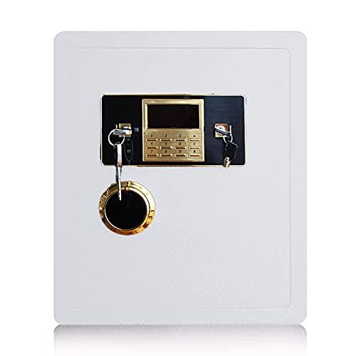Caja De Seguridad, Cerradura Electrónica Con Combinación De 45x38x32cm, Caja Fuerte Con 2 Llaves, Alarma Incorporada, Dinero, Documentos A4, Computadora Portátil, Oficina En Casa, Color Negro-white