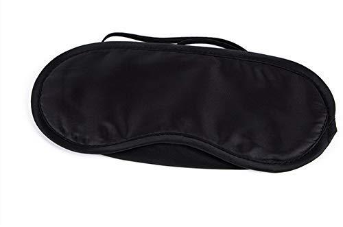 Drawihi Sleep Eye Schwarz mit Ohrstöpseln für einen komfortableren Schlaf.