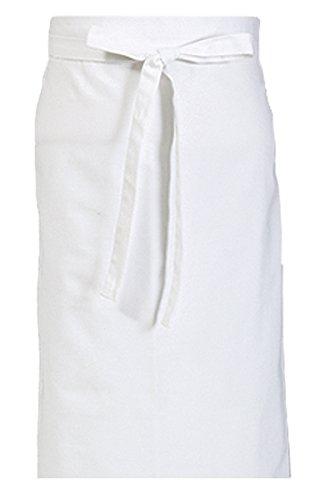 KOKOTT Vorbinder aus 100% Baumwolle im 5er oder 10er Pack, geeignet für Küche/Service etc (Weiß, 10)