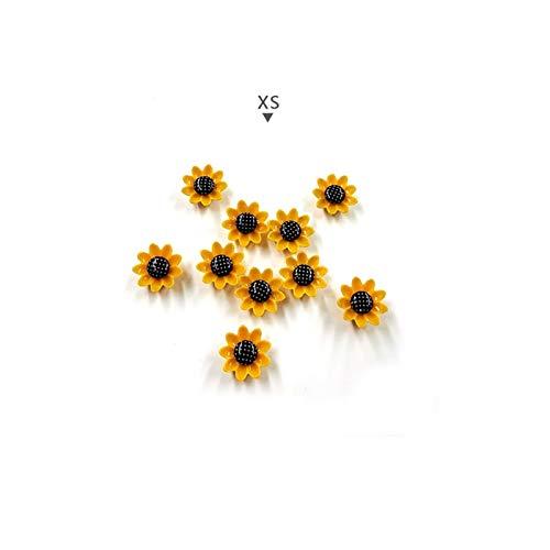Imanes Nevera 10 unids flores amarillas imán magnet Modo de dibujos animados Pegatina Pegatina Resina Imanes de refrigerador para el hogar Accesorios de decoración de bricolaje regalo ( Color : XS )
