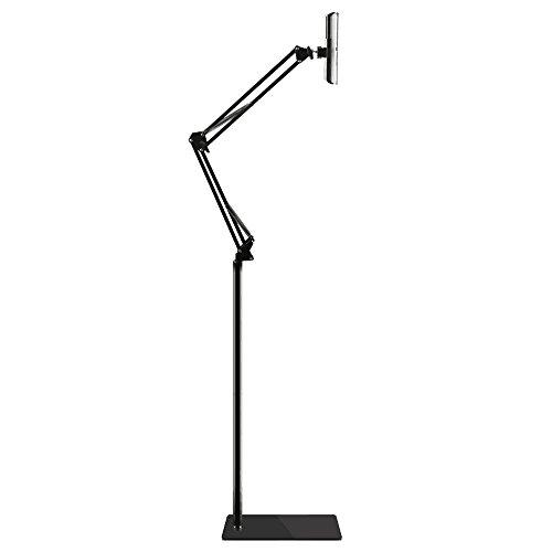 (Bidear)タブレットスタンド スマホ ホルダー 360度回転可能 38cm-140cm高さ調節可能 主体調節でき折り...
