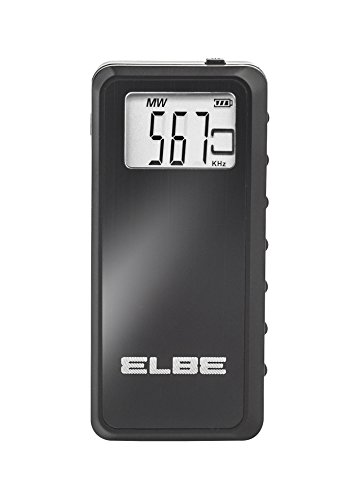 Elbe RF-70 Radio de Bolsillo Digital, Radio Am/FM, Stereo PLL, Memoria 60 emisoras, función Sleep, función Hold, Pantalla Digital, Auriculares incluidos, Color Negro