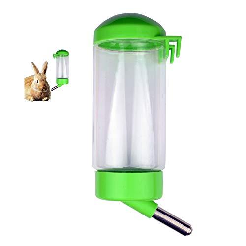 Flammi Pet Water Bottle Hanging No Drip Chew Proof 450ml/15oz for Puppy Cat Rabbit Small Animals,...