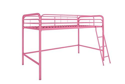 DHP Junior Loft Bed Frame Ladder, Pink