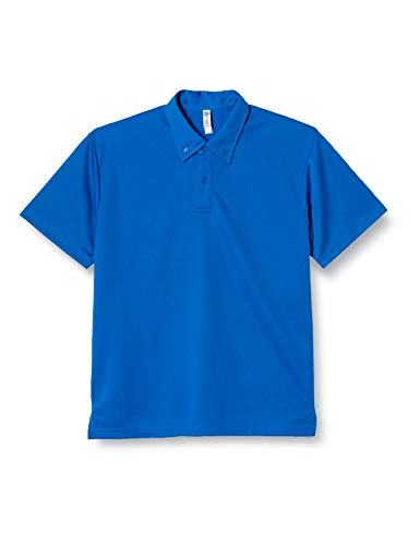[グリマー] 半袖 4.4オンス ドライ ボタンダウン ポロシャツ (ポケット無) 00313-ABN ロイヤルブルー M (日本サイズM相当)