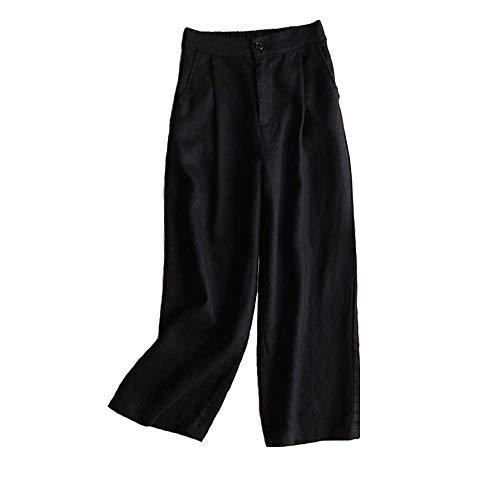 Pantalones De Lino De Verano Para Mujeres Pierna Ancha Mode Básicos Pantalones De Deporte Casuales Cómodo Flojo Elegante De Las Mujeres Citas Pantalones De Trabajo Pantalones De Yoga Pantalones